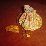 1. The Amber  bag . Natural caw leather.
